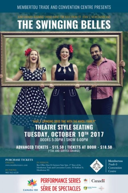 THE SWINGING BELLES at Membertou Trade & Convention Centre - Kluskap Room Tue Oct 10 2017 at 6:00 pm