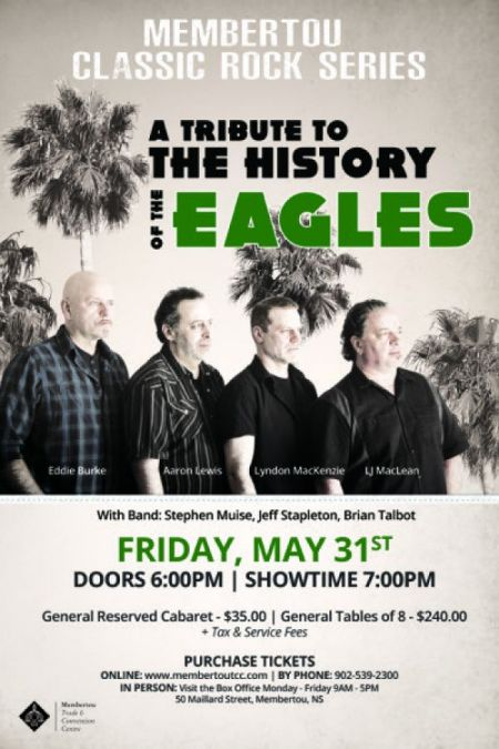 Membertou presents: THE HISTORY OF THE EAGLES at Membertou Trade & Convention Centre - Kluskap Room Fri May 31 2019 at 7:00 pm