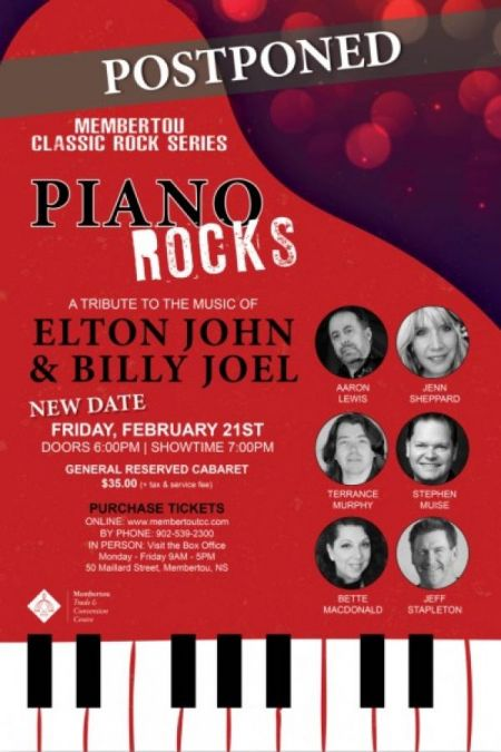Membertou Trade & Convention Centre presents Piano Rocks - at Membertou Trade & Convention Centre - Kluskap Room Fri Feb 21 2020 at 7:00 pm