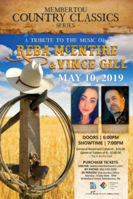 Membertou Classic Country Series: TRIBUTE TO SONGS OF VINCE GILL & REBA MCENTIRE at Membertou Trade & Convention Centre - Kluskap Room Fri May 10 2019 at 7:00 pm