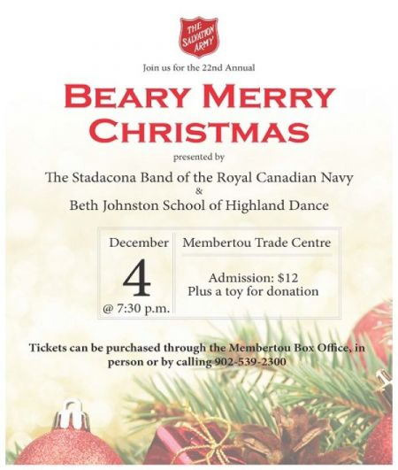 22nd Annual Beary Merry Christmas at Membertou Trade & Convention Centre - Kluskap Room Tue Dec 4 2018 at 7:30 pm