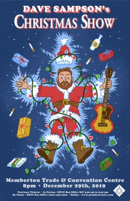 DAVE SAMPSON CHRISTMAS SHOW at Membertou Trade & Convention Centre - Kluskap Room Sun Dec 29 2019 at 9:00 pm